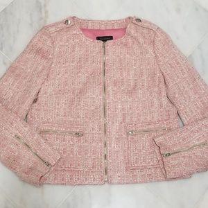 Talbots Pink Tweed Blazer
